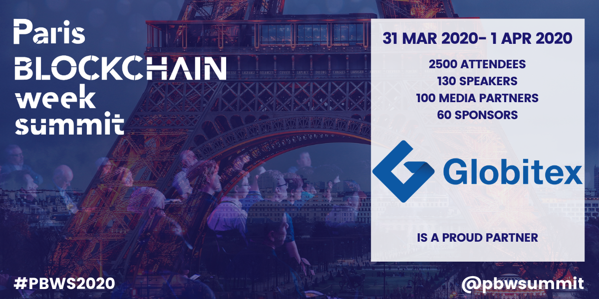 Globitex becomes a proud partner of Paris Blockchain Week Summit