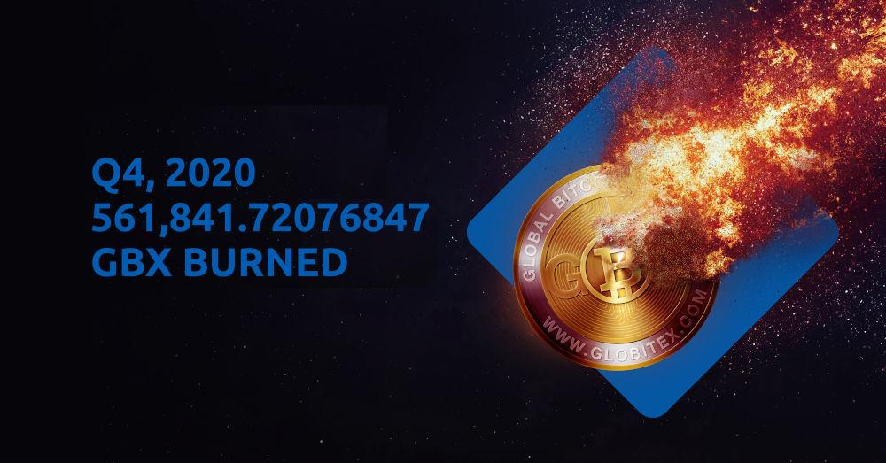 Globitex Token GBX Burn Q4 2020